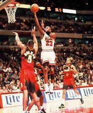 1995 MICHAEL JORDAN Chicago Bulls BASKETBALL ACTION Photo 8x10 Jordan XI PICTURE