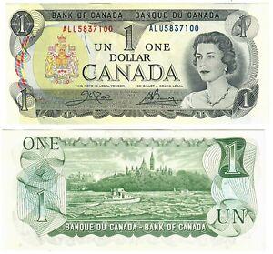 """Canada 1 Dollar 1973 UNC """"ALU"""" Crow-Bouey"""