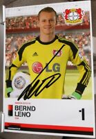 Bayer 04 Leverkusen + Handsignierte Autogrammkarte + Bernd Leno /10