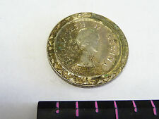 1957 SOUTH AFRICA(SUID AFRIKA) 1/2D- ELIZABETH II REGINA COIN - CHARM PENNY