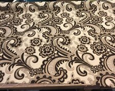 50 Yard Roll Moderna Brown Damask Fabric Chenille upholstery sofa couch pillows