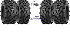 HONDA TRX 350 RANCHER 4x4 24-8-12 Front / 24-9-11 Rear ATV 6 PLY Tires -Set of 4