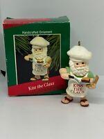 "1988 Hallmark Handcrafted  Keepsake Ornament "" Kiss The Claus """