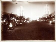 Snapshot Exposition coloniale 1931 cité des informations vue de nuit lumières