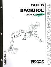 Woods Backhoe Bh70 X Bh80 X Operators Manual Man0450