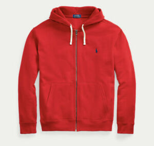 NWT Polo Ralph Lauren BIG & TALL SOLID RED Full Zip Sweatshirt Hoodie