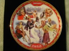 Coca-Cola Days Calendar Plates, Jan-Feb-Mar-Apr, Bradford Exchange, limited ed