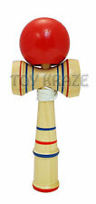 """KENDAMA! RED WOOD CUP BALL STRING STICK CLASSIC JAPANESE TOY US SELLER 6.5"""" NEW"""