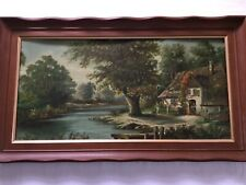 Cottage Rushing River Water Trees Farm Homestead Achenbach 8x10 Print 314