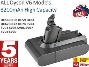 For Dyson V6 8200mAh Battery DC58 DC59 DC61 DC62 Animal DC72 SV03 SV09 SV06