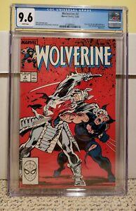 Wolverine #2 CGC Graded 9.6 Marvel December 1988 White Pages Black Blade NM+