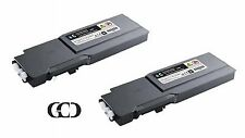 2X CYAN Toners for DELL 331-8424, 331-8428, 331-8432, 1M4KP, FMRYP, C3760DN