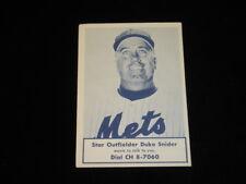 1963 Nassau County Boy Scouts Duke Snider NY Mets Baseball Card - SCARCE