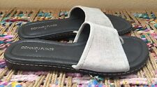 "DONALD J PLINER ""GiGi"" Sandals Sides Flats Gray Metallic Copper Women's Size 7.5"