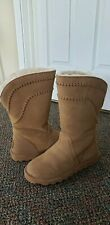 Bearpaw Lea Winter Boot 8 Hickory Suede Wool Blend Lining Never Wet Technology