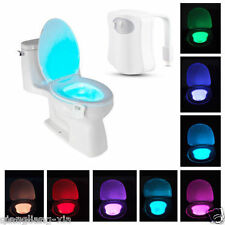 NEW 8-Color LED Motion Sensing Automatic Toilet Bowl Night Light