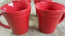 Rachael Ray Double Ridge Red Coffee Cups Mugs    NEW