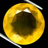 TOP BIG OPAL : 9,02 Ct Natürliche Gelb Feuer Opal aus Mexiko