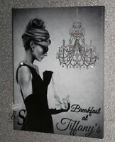 "Glitter art A. Hepburn ""Breakfast at Tiffany's"" Chic Framed or Canvas! Any Size"