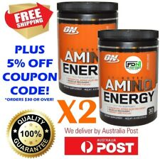 2X - OPTIMUM NUTRITION AMINO ENERGY 30 SERVE BCAAS PRE WORKOUT ON GOLD STANDARD