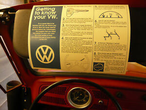 Classic VW Beetle 'Getting to Know your VW' Sleeve + Karmann Ghia + VW Camper