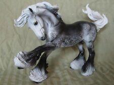 Breyer Horse Statue OOAK CM/Custom Gypsy Vanner Dark Dappled Gray
