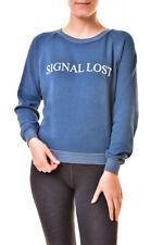 Wildfox Womens WFL19054T Signal Lost Junior Sweatshirt Blue M RRP£109 BCF811