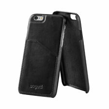 Genuine Bugatti Full Grain Leather Snap Case for iPhone 7 Plus / 8 Plus Black