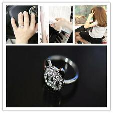 Cute Panda Face Ring Bling bling Silver Tone Black/Clear Full Crystal Jewelry DC