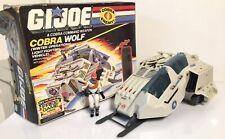 1987 Gi Joe Cobra Wolf Boxed w/ Driver Ice Viper Action Figure Hasbro ARAH