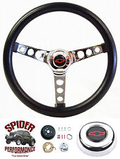 "1967-1968 Chevelle Nova steering wheel BOWTIE 13 1/2"" CLASSIC CHROME"