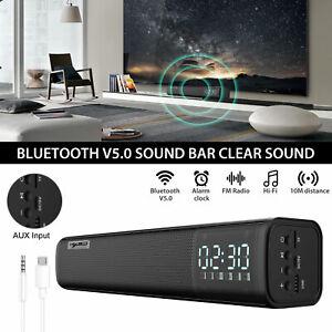 Wireless Sound Bar Soundbar Bluetooth Speaker Theater TV Home Stereo Subwoofer