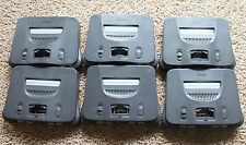 6 Nintendo Charcoal Grey Console Systems ONLY - TESTED Super Bundle Lot Genuine