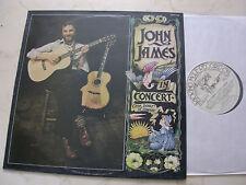 JOHN JAMES In Concert 1978 UK LP KICKING MULE LABEL