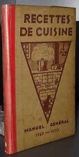 Recette de cuisine, manuel général 1929-1930