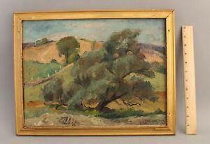 FREDERICK BUCHHOLZ American Impressionist Landscape Oil Painting w/ Carved Frame