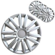 4 Stück Radkappen 15 Zoll Radzierblenden in Silber Radblenden Universal
