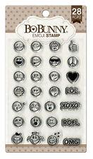 BoBunny Emoji Clear Acrylic Stamp 28 piece set