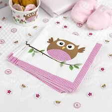 20 x Baby Shower Napkins Little Owls Pink Girls Christening napkins FREE P&P