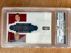 2008 Donruss Americana Celebrity Cuts Hamill / Prowse Signature Sample MINT 9