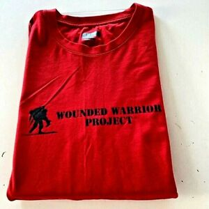 Wounded Warrior Project Unfinished Under Armour T-Shirt Mens Red Tee 2XL New