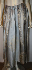 LAFAYETTE 148 Blue Gray Ombre Long Pleated Silk Skirt 8 Paisley