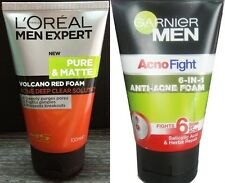 2x Anti Acne Treatments Pimples Face Washes Volcano Red Foam Acno Fight LOREAL