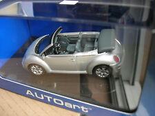 AUTOart 1/43 VW VOLKSWAGEN NEW BEETLE CABRIOLET GRIS METAL!!