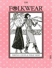 Folkwear 131 Tibetan Chupa and Wrap Skirt Traditional Costume Sewing Pattern