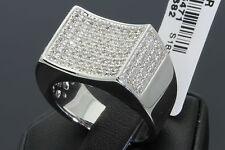 .82 CARAT MENS WHITE GOLD FINISH DIAMOND ENGAGEMENT WEDDING PINKY BAND RING
