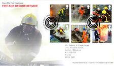 1 SETTEMBRE 2009 FIRE & RESCUE servizio Royal Mail FIRST DAY COVER TUBO SHS