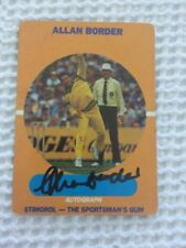 Autographed Cricket Trading Cards 1989 Season