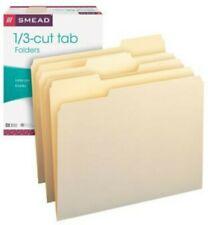 New Smead Manilla File Folder 13 Cut Tab Letter Size 4 Folders