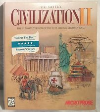 Vintage CIVILIZATION II Game Windows 3.1/95 CD-ROM Disc CIB Boxed Complete